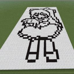 Minecraft-PE:建築基礎教學(一):雙色平面圖攻略