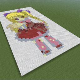 Minecraft-PE:建築基礎教學(二):彩色平面圖攻略