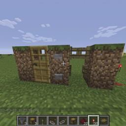 Minecraft-PE:紅石元件介紹(五)門、地板門、柵欄門、活塞