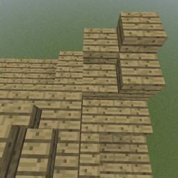 Minecraft-PE:建築進階教學(十四)樓梯式飛簷攻略