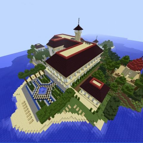 DIY建築比賽決賽作品3號:小島別墅