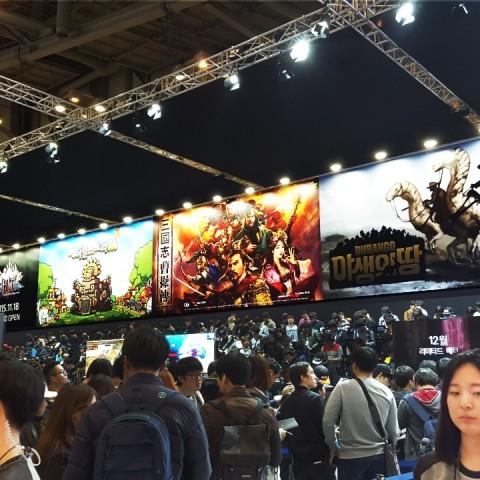 韓國最大遊戲展 2015 G Star,「雙美」搶盡風頭。辣妹成群美不勝收,手遊搶搭韓劇、微電影風潮