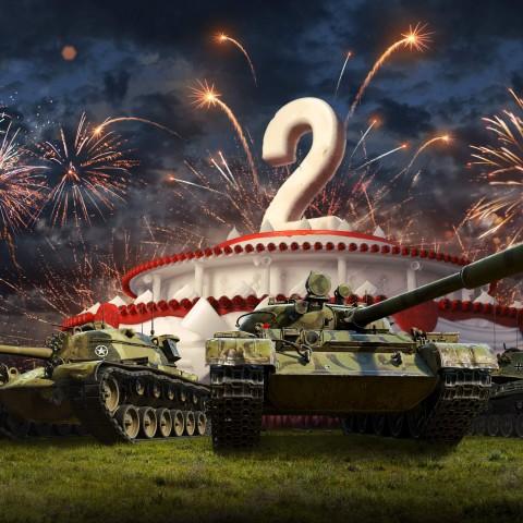 《戰車世界:閃擊戰》歡慶兩週年,感謝5,500萬車長共渡兩年成長時光