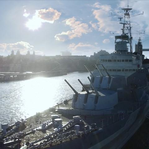 《戰艦世界》HMS Belfast VR影片 全新虛擬實境體驗