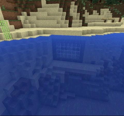 Minecraft:小雪的地下秘密基地7「水底景觀室建造開始!」