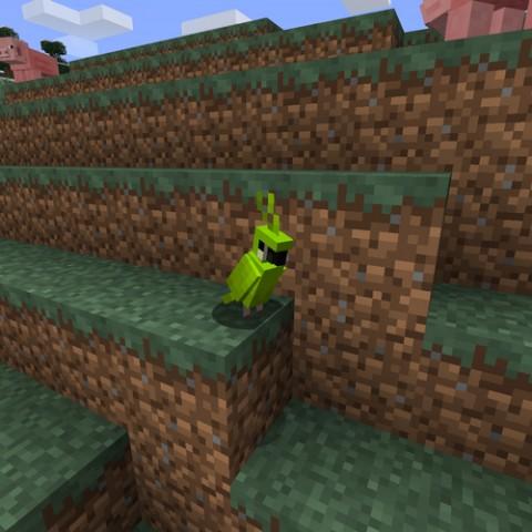 Minecraft:17w13a更新內容,新增鸚鵡以及合成表查詢