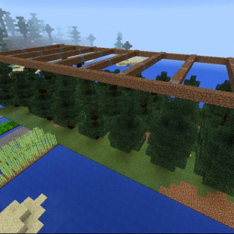Minecraft:小雪的地下秘密基地9「開拓植林場」